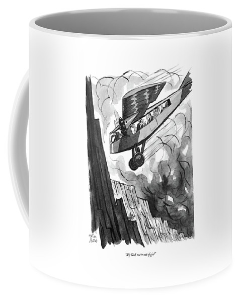 Psychology Coffee Mug featuring the drawing My God, We're Out Of Gin by Peter Arno