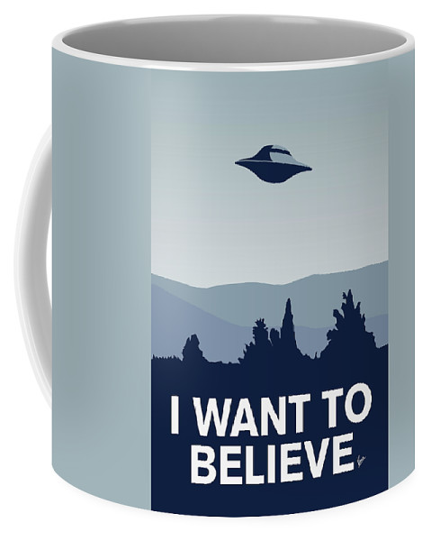 Classic Coffee Mug featuring the digital art My I Want To Believe Minimal Poster-xfiles by Chungkong Art