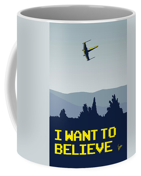 Classic Coffee Mug featuring the digital art My I Want To Believe Minimal Poster- Xwing by Chungkong Art