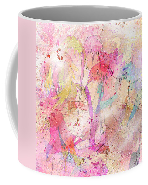 Abstract Coffee Mug featuring the digital art My Imaginary Friends by Rachel Christine Nowicki