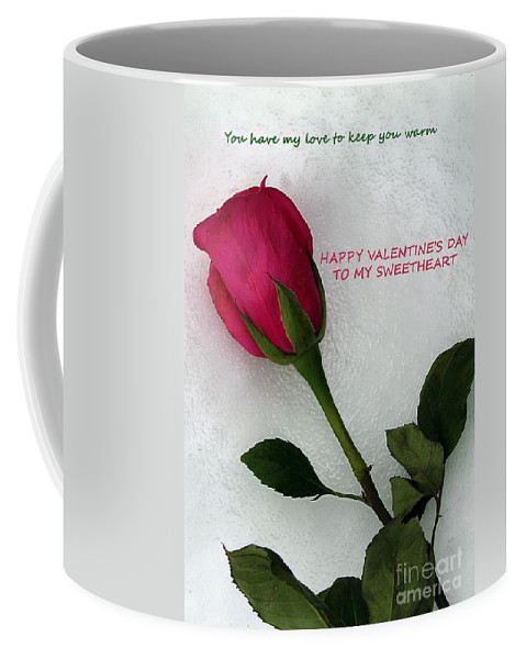 Valentine Coffee Mug featuring the photograph My Love To Keep You Warm by Nina Silver