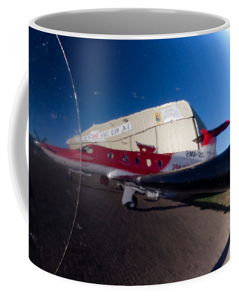 Pilatus Pc 12 Coffee Mug featuring the photograph My Reflection by Paul Job