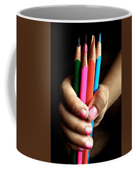 Pencils Coffee Mug featuring the photograph My Right by Sagar Lahiri
