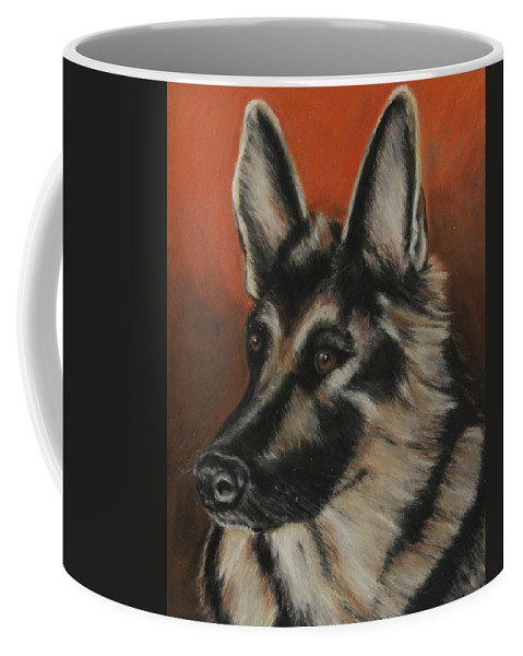 Animal Coffee Mug featuring the painting My Sadie by Jeanne Fischer