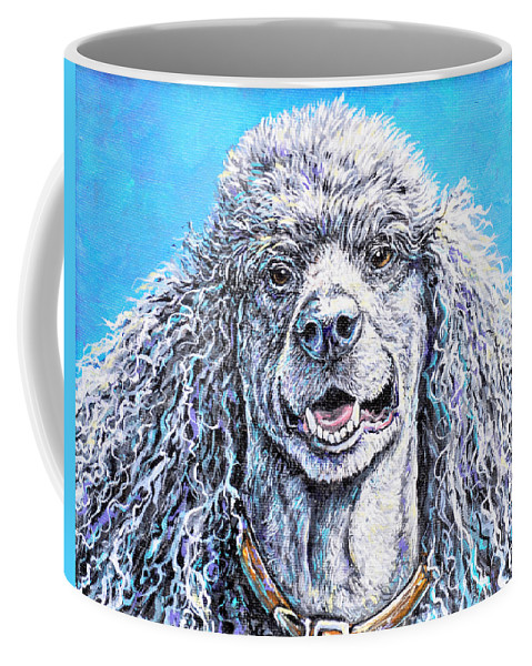 Dog Coffee Mug featuring the painting My Standard Of Excellence by Gail Butler