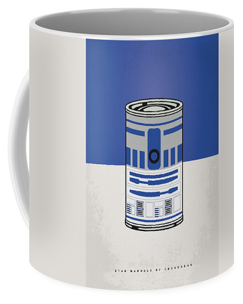 Star Coffee Mug featuring the digital art My Star Warhols R2d2 Minimal Can Poster by Chungkong Art