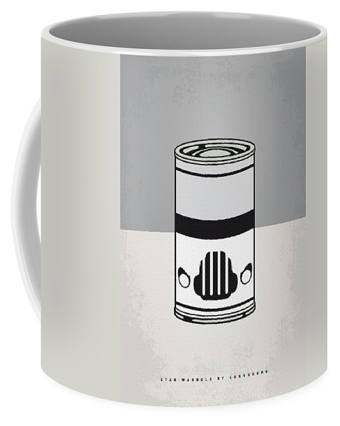 Star Coffee Mug featuring the digital art My Star Warhols Stormtrooper Minimal Can Poster by Chungkong Art