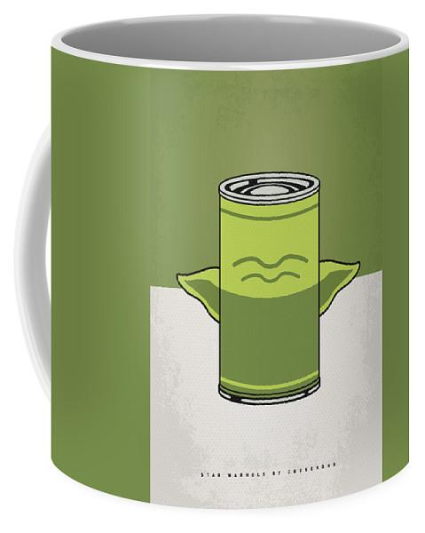 Star Coffee Mug featuring the digital art My Star Warhols Yoda Minimal Can Poster by Chungkong Art