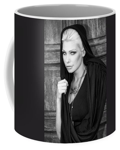 Blonde Coffee Mug featuring the photograph Mysterious Obsession Bw Palm Springs by William Dey