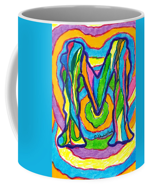 M Coffee Mug featuring the drawing Mystic M by Kendall Kessler