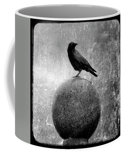 Monochrome Coffee Mug featuring the photograph Mystical Globe by Gothicrow Images