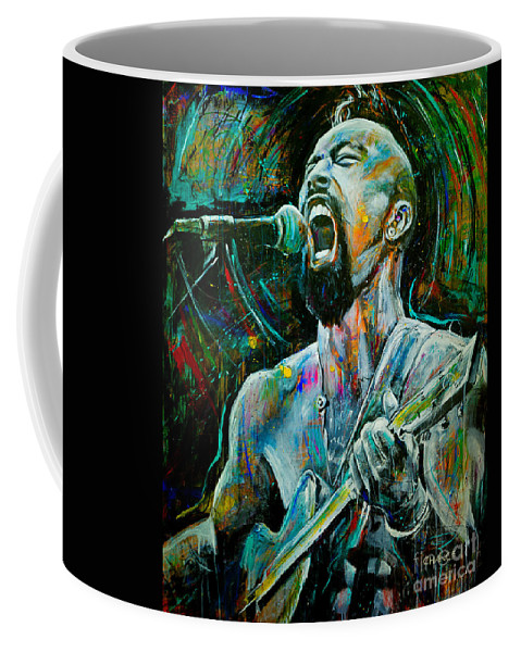 Robyn Chance Coffee Mug featuring the painting Nahko by Robyn Chance