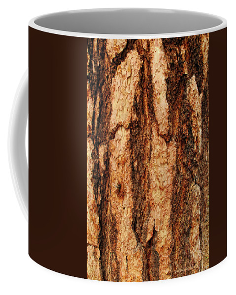 Tree Coffee Mug featuring the photograph Nailed by Donna Blackhall