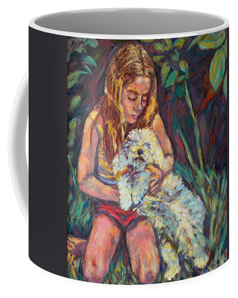 Girl Coffee Mug featuring the painting Nan And Beau by Kendall Kessler
