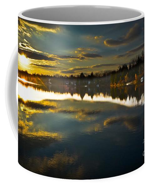 Lake Coffee Mug featuring the photograph Naomi Sunset by Gary Keesler