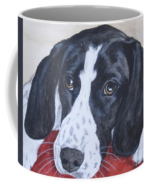 Dog Coffee Mug featuring the painting Nap Time by Megan Cohen