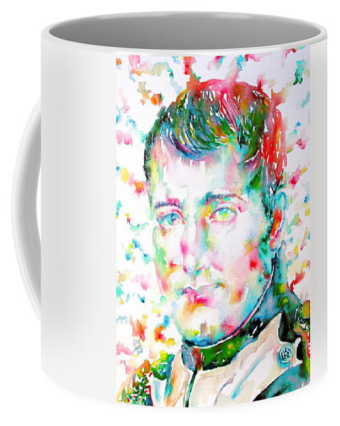 Napoleon Coffee Mug featuring the painting Napoleon Bonaparte - Watercolor Portrait by Fabrizio Cassetta