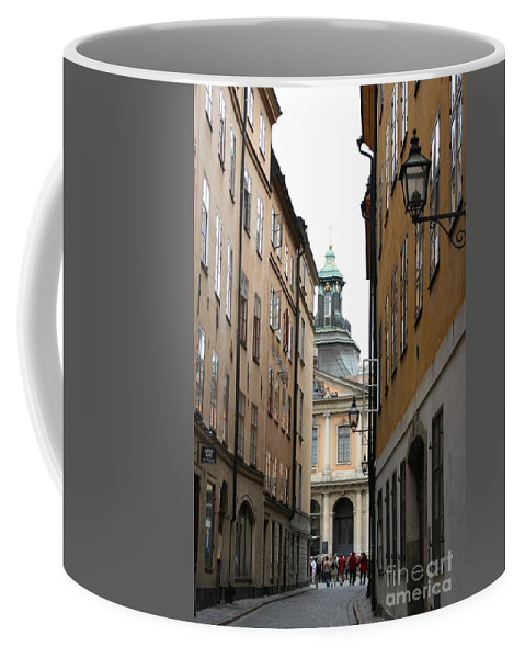 Road Coffee Mug featuring the photograph Narrow Road Stockholm by Christiane Schulze Art And Photography
