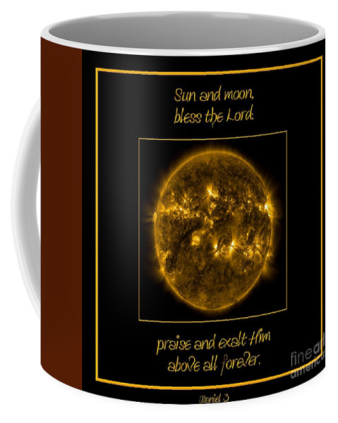 Nasa Coffee Mug featuring the photograph Nasa The Suns Corona Sun And Moon Bless The Lord Praise And Exalt Him Above All Forever by Rose Santuci-Sofranko