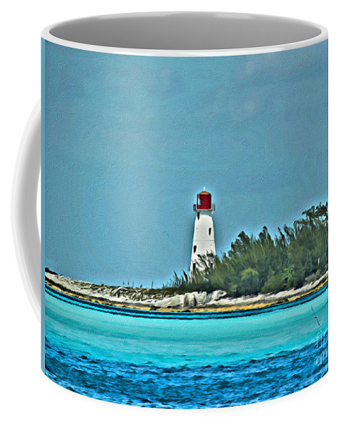 Bahama Coffee Mug featuring the photograph Nassau Bahama Lighthouse by Scott Hervieux