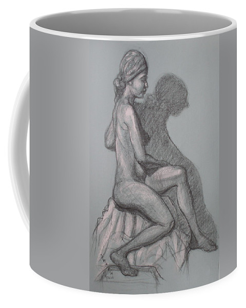 Realism Coffee Mug featuring the drawing Natalia #1 by Donelli DiMaria