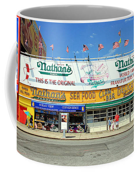 Dogs Coffee Mug featuring the photograph Nathan's Coney Island by Valentino Visentini