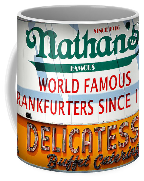 Dogs Coffee Mug featuring the photograph Nathan's Sign by Valentino Visentini