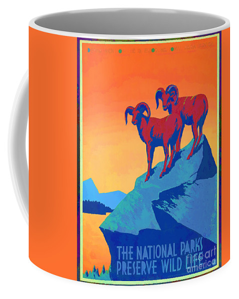 Wpa Coffee Mug featuring the photograph National Parks Wild Life Poster by Edward Fielding