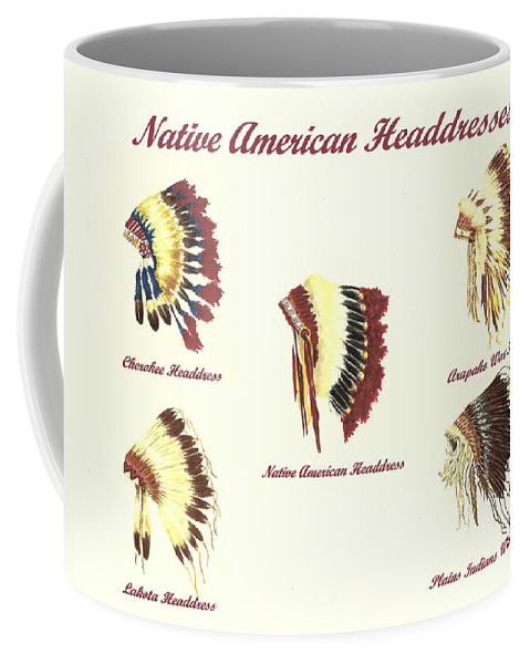 Native American Headdresses Number 4 Coffee Mug For Sale By Michael Vigliotti