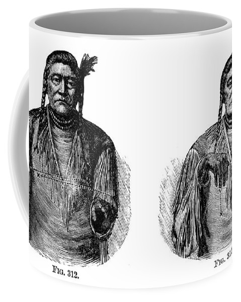 1880 Coffee Mug featuring the photograph Native Americans: Sign Language by Granger