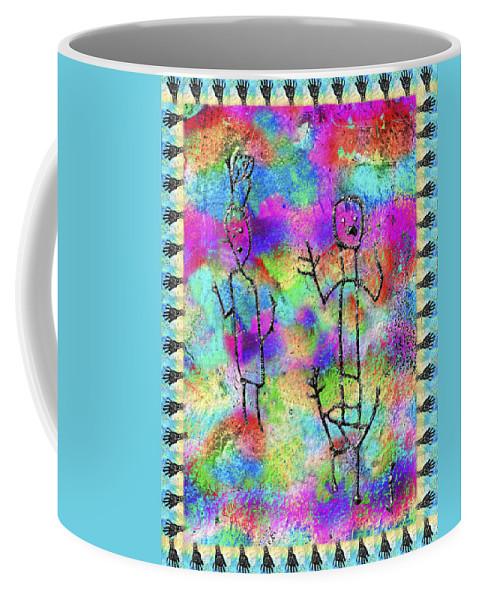 Petroglyph Coffee Mug featuring the photograph Native Legends II by Kurt Van Wagner