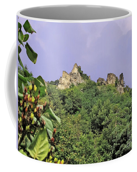 Travel Coffee Mug featuring the photograph Nature And Medieval Ruins by Elvis Vaughn