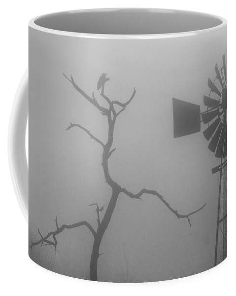 Windmill Coffee Mug featuring the photograph Nature Versus Man-made by Max Waugh