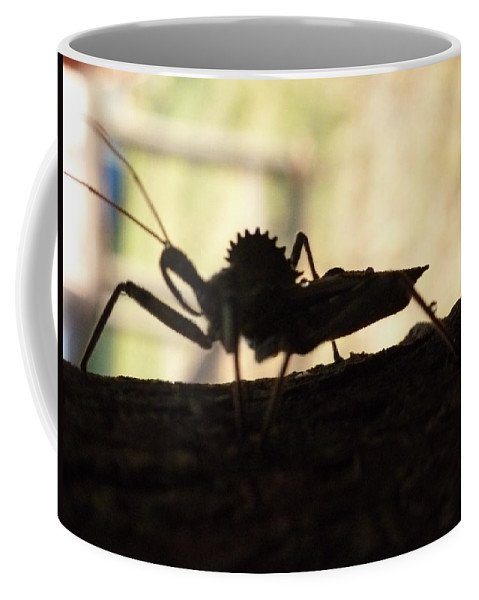 Wheel Bug Coffee Mug featuring the photograph Natures Beast by Karen Capehart