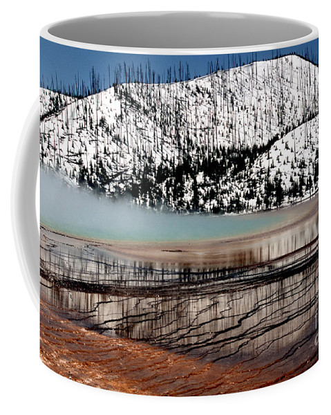 Yellowstone National Park Coffee Mug featuring the photograph Nature's Mosaic I by Sharon Elliott