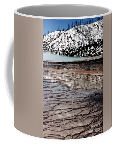 Yellowstone National Park Coffee Mug featuring the photograph Nature's Mosaic II by Sharon Elliott