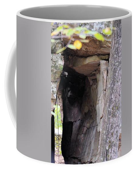 Nature's Sandstone Canopy Coffee Mug featuring the photograph Nature's Sandstone Canopy by Maria Urso