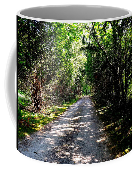 Nature Coffee Mug featuring the photograph Nature's Trail by Shelley Blair