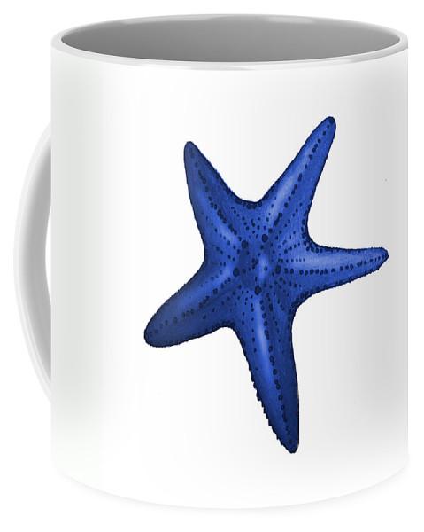 Nautical Coffee Mug featuring the digital art Nautical Blue Starfish by Michelle Eshleman