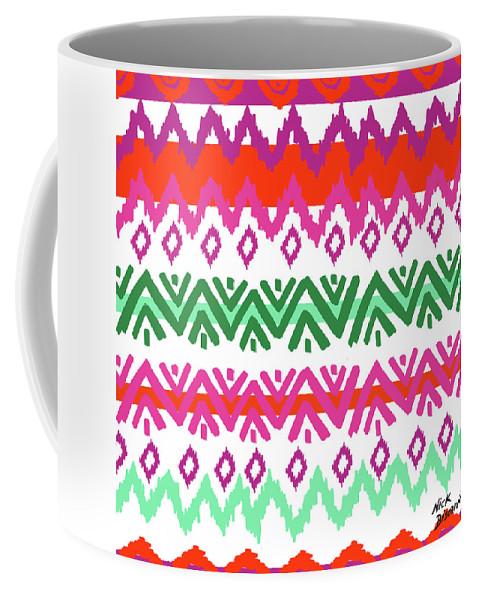 Southwest Coffee Mug featuring the digital art Navajo Mission Round by Nicholas Biscardi