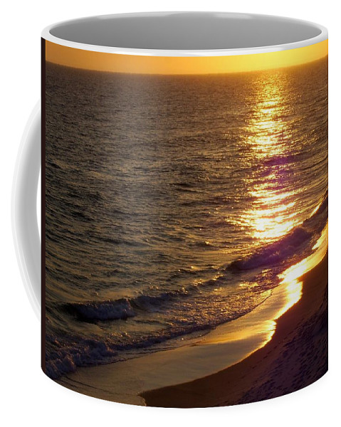 Beach Coffee Mug featuring the photograph Navarre Sunset Surf by Terry Cobb