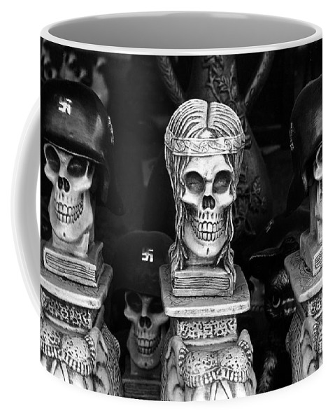 Nazi Helmets Skeletons Elephant Statuary Border Town Nogales Sonora Mexico 1968 Coffee Mug featuring the photograph Nazi Helmets Skeletons Elephant Statuary Border Town Nogales Sonora Mexico 1968 by David Lee Guss