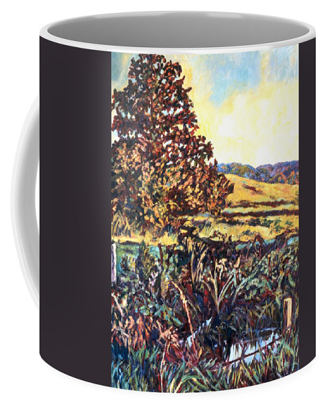 Landscape Coffee Mug featuring the painting Near Childress by Kendall Kessler