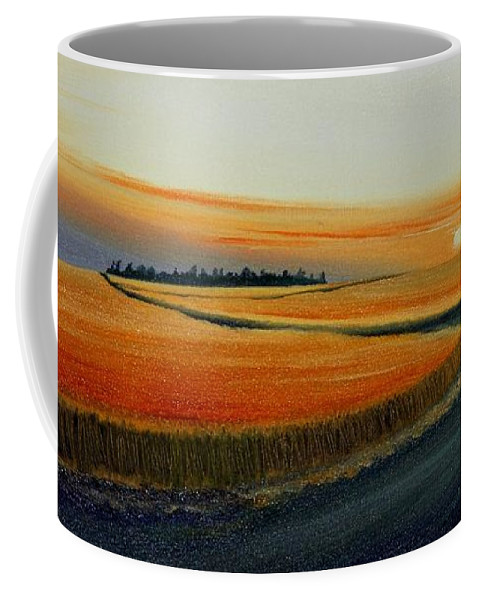 Wheat Coffee Mug featuring the painting Near Moscow by Leonard Heid