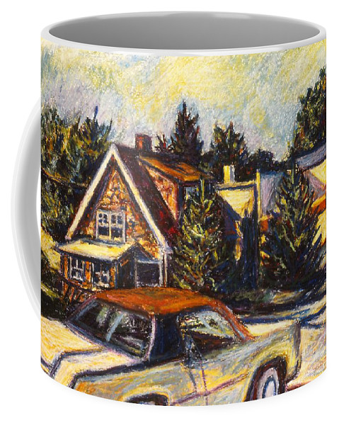 Town Paintings Coffee Mug featuring the painting Near Reeds by Kendall Kessler
