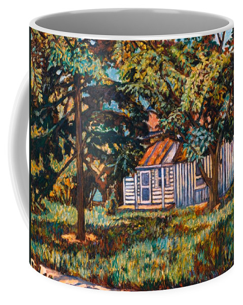 Architecture Coffee Mug featuring the painting Near The Tech Duck Pond by Kendall Kessler