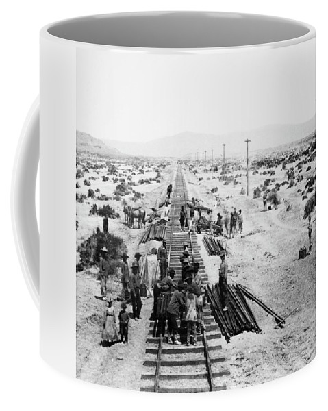 1868 Coffee Mug featuring the photograph Nebraska Railroad Work by Granger