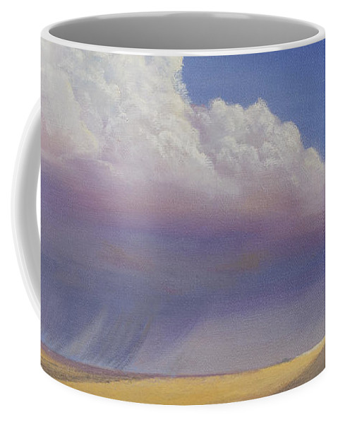 Landscape Coffee Mug featuring the painting Nebraska Vista by Jerry McElroy