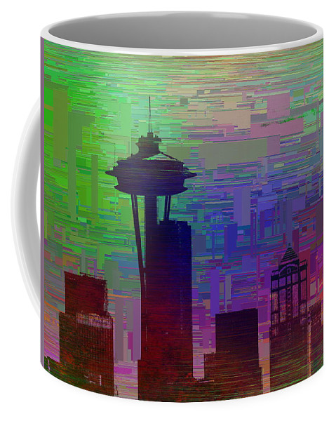 Needle Coffee Mug featuring the digital art Needle Cubed 2 by Tim Allen