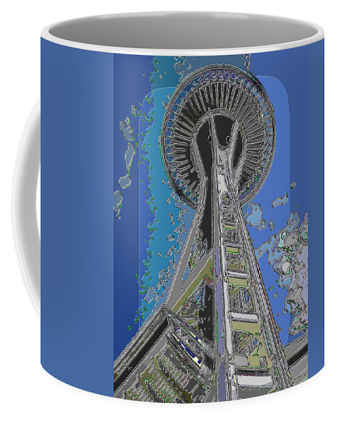 Space Needle Coffee Mug featuring the digital art Needles Edge 3 by Tim Allen